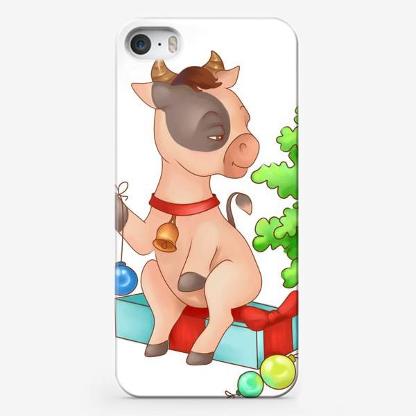 Чехол iPhone «Милый бычок»
