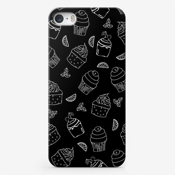Чехол iPhone «кексы и пирожные»