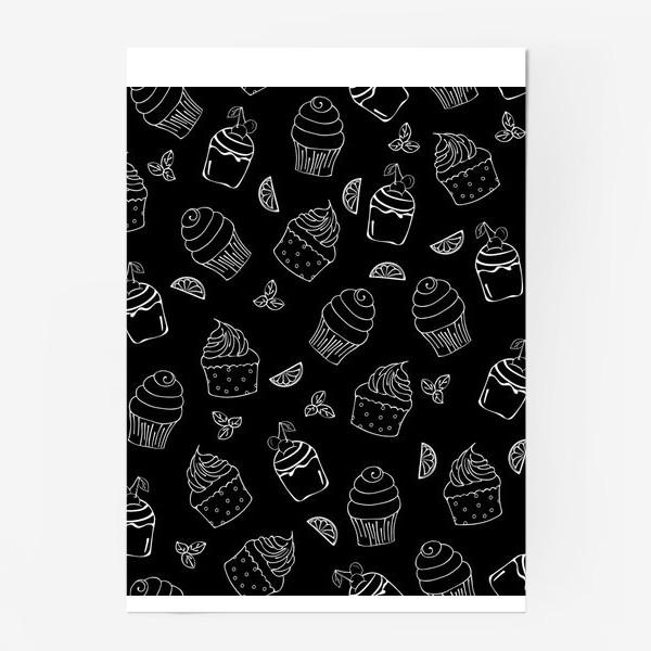 Постер «кексы и пирожные»