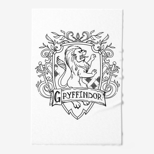 Полотенце «Герб факультета Гриффиндор. Гарри Поттер. Gryffindor Crest. Harry Potter»