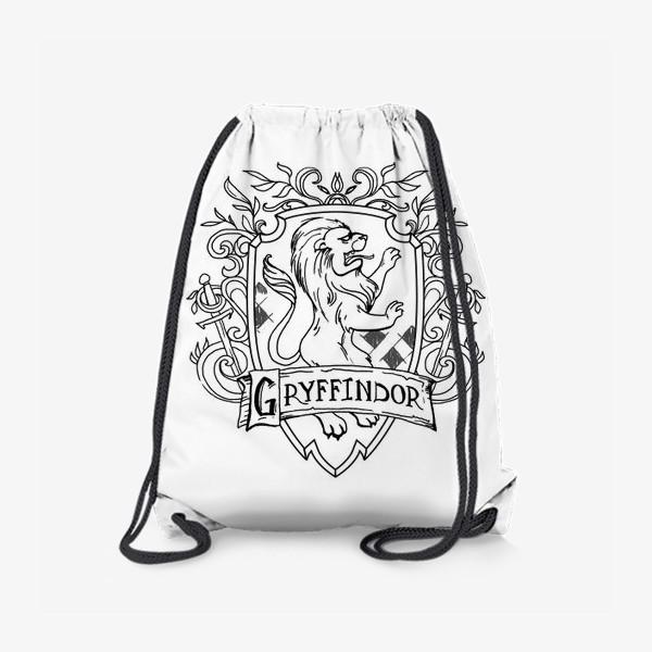 Рюкзак «Герб факультета Гриффиндор. Гарри Поттер. Gryffindor Crest. Harry Potter»