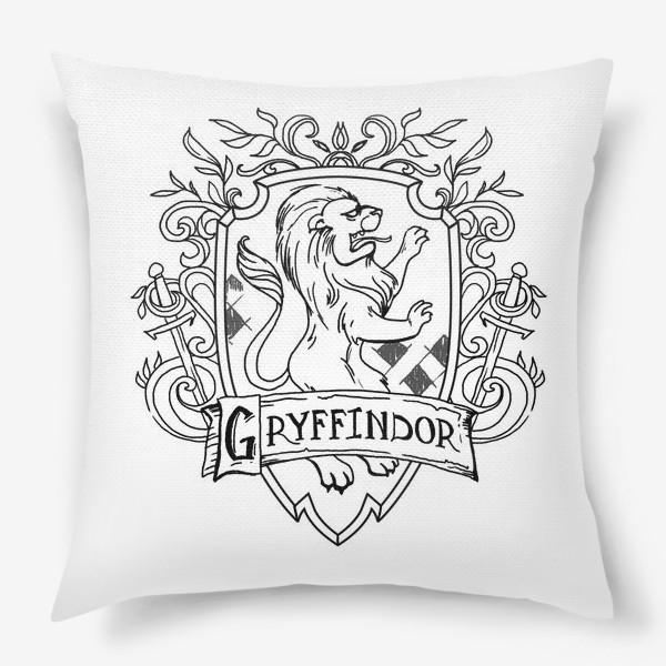 Подушка «Герб факультета Гриффиндор. Гарри Поттер. Gryffindor Crest. Harry Potter»