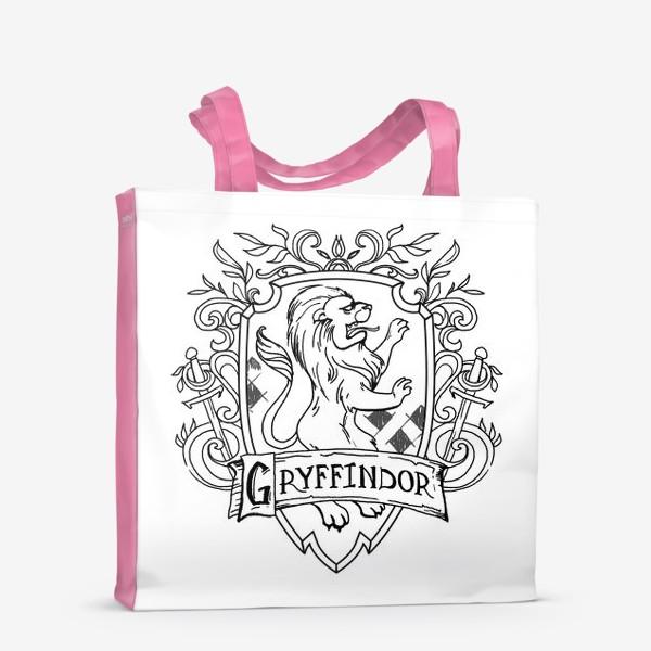 Сумка-шоппер «Герб факультета Гриффиндор. Гарри Поттер. Gryffindor Crest. Harry Potter»