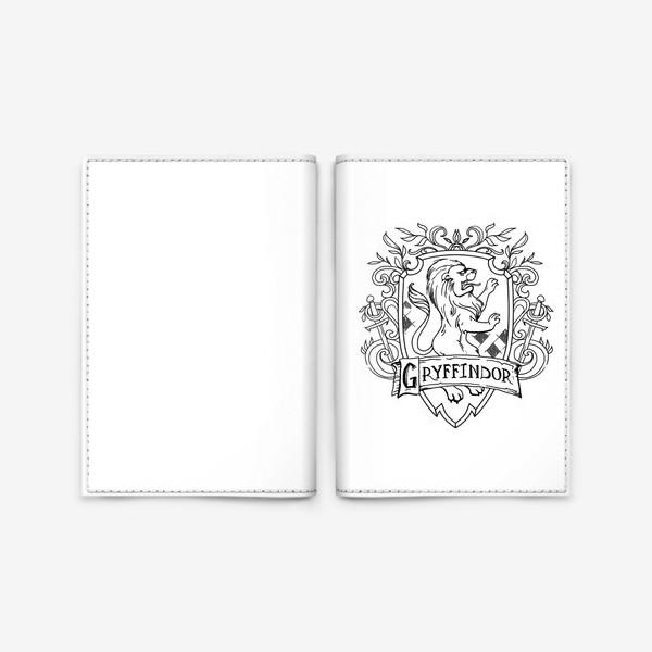Обложка для паспорта «Герб факультета Гриффиндор. Гарри Поттер. Gryffindor Crest. Harry Potter»