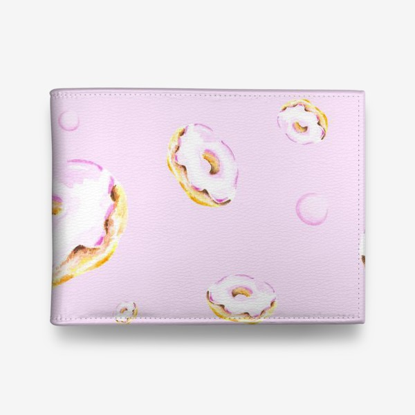 Кошелек «Пончики на розовом (бесшовный паттерн)»