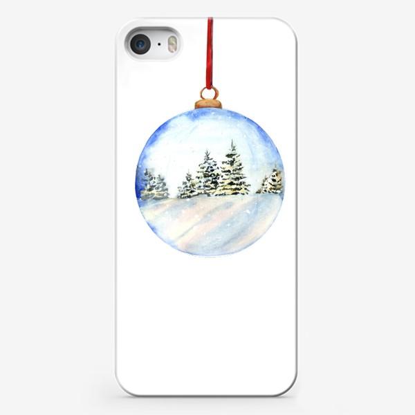 Чехол iPhone «Новогодний шар »