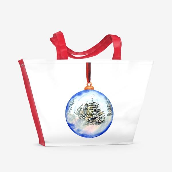 Пляжная сумка «Новогодний шар »