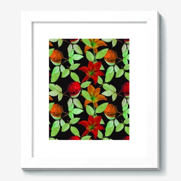 Картина «Бесшовный фон с розами»