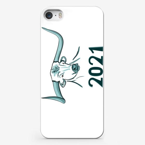 Чехол iPhone «Бык символ нового 2021 года»