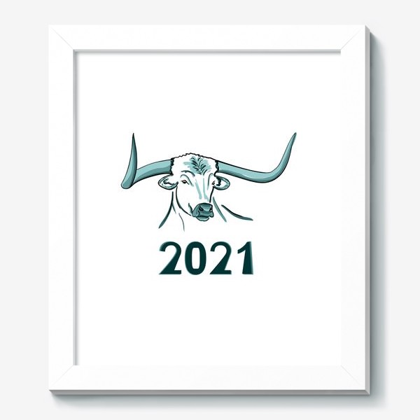 Картина «Бык символ нового 2021 года»