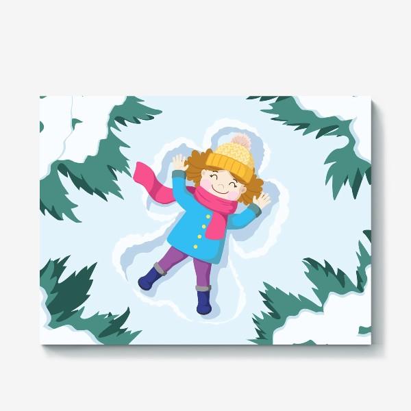 Холст «Снежный ангел»