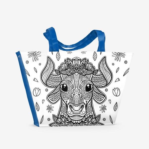 Пляжная сумка «Бык антистресс»