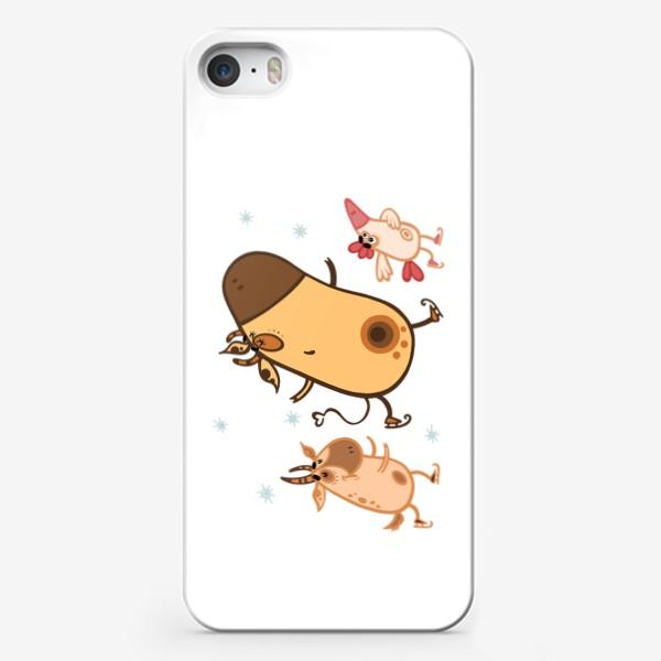 Чехол iPhone «Новогоднее катание»