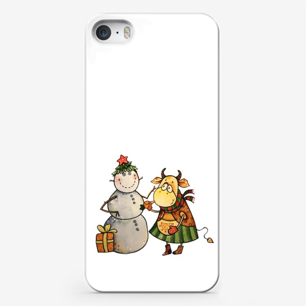 Чехол iPhone «Новогодние забавы»
