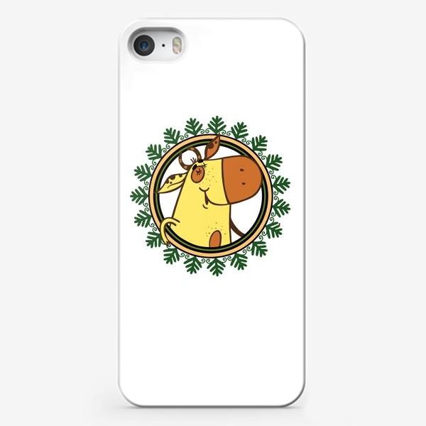 Чехол iPhone «Новогодний бычок»