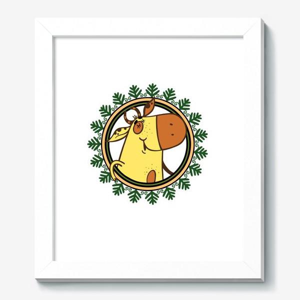 Картина «Новогодний бычок»