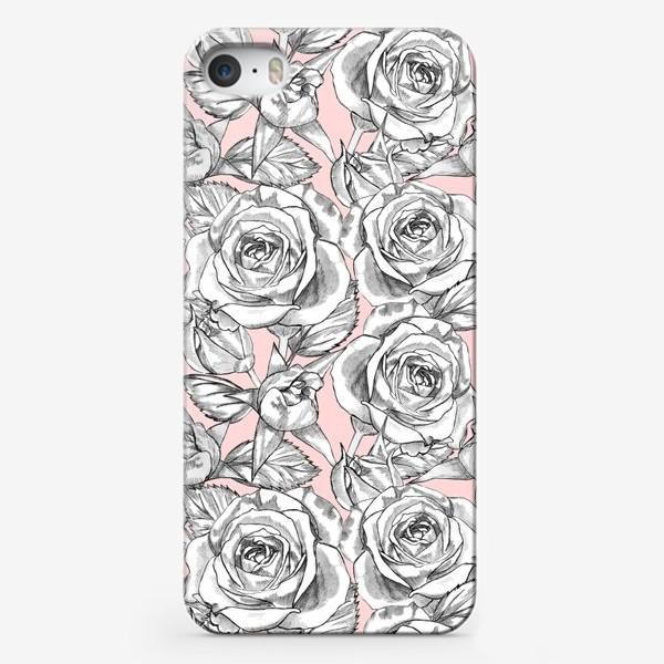 Чехол iPhone «Танец серых роз»