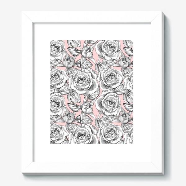 Картина «Танец серых роз»