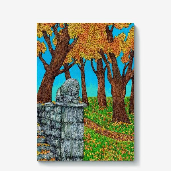 Холст «Осень в парке»