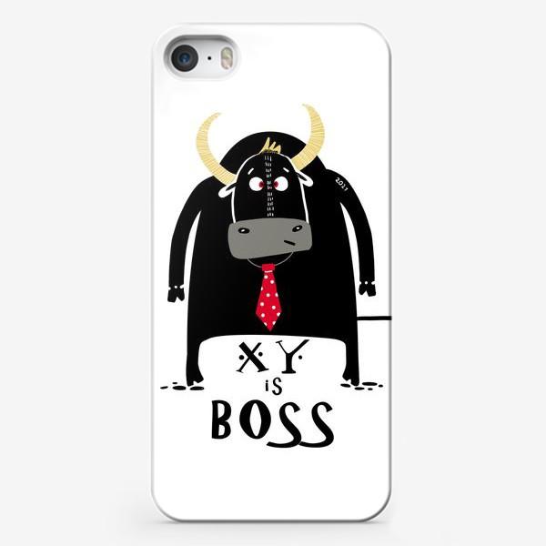 Чехол iPhone «Кто тут Босс. Год быка»