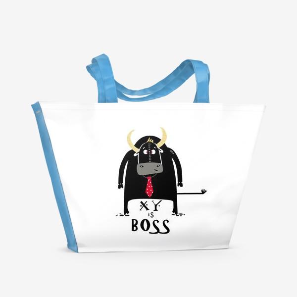 Пляжная сумка «Кто тут Босс. Год быка»