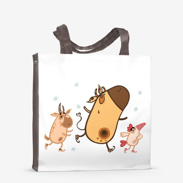 Сумка-шоппер «Новогоднее катание»
