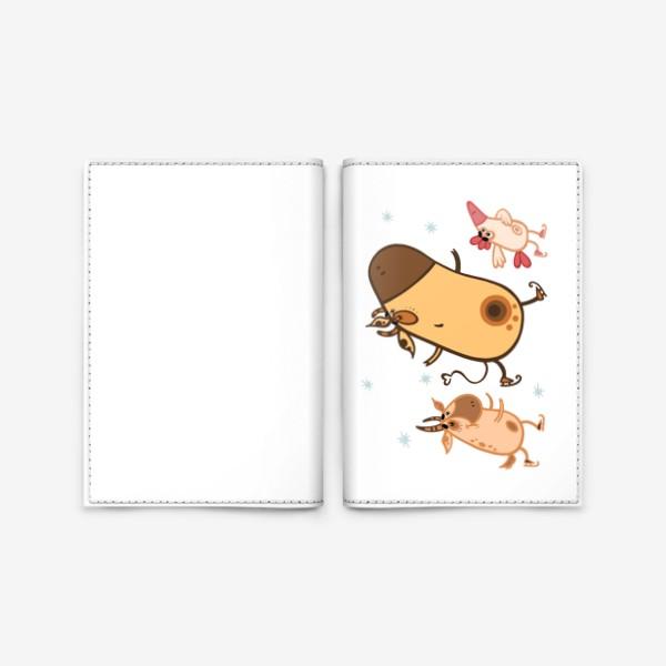 Обложка для паспорта «Новогоднее катание»