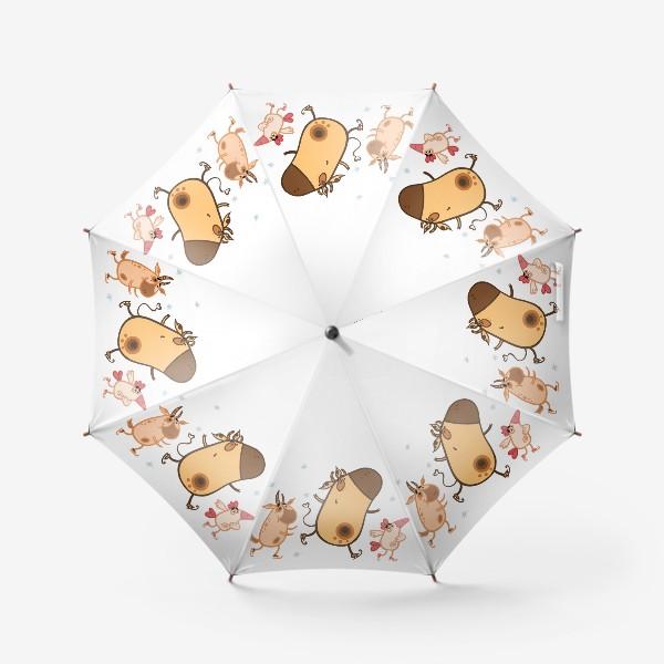 Зонт «Новогоднее катание»