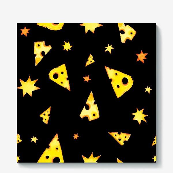 Холст «Звездный сыр (черный)»