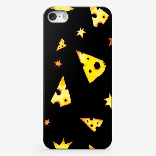 Чехол iPhone «Звездный сыр (черный)»