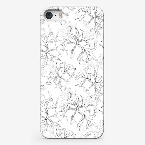 Чехол iPhone «Цветочный принт. Нежные лилии»