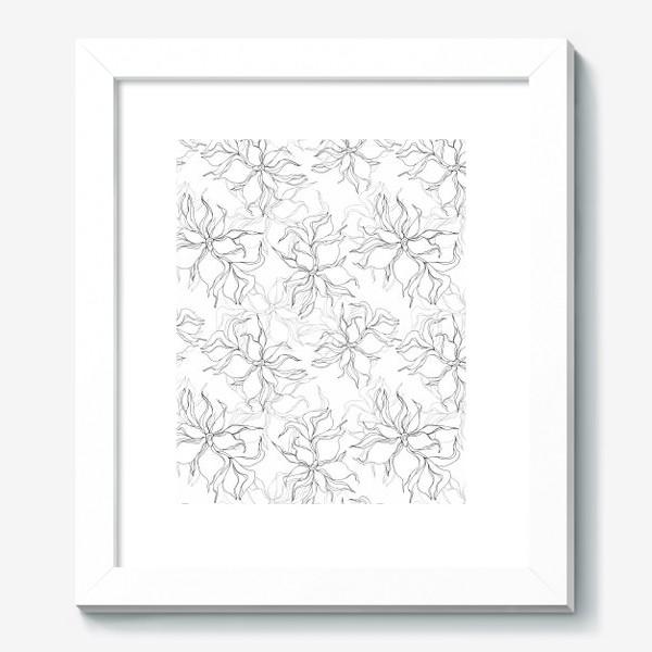 Картина «Цветочный принт. Нежные лилии»