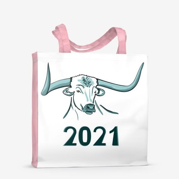 Сумка-шоппер «Бык символ нового 2021 года»