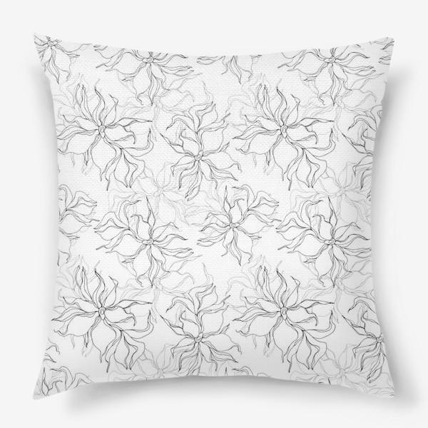 Подушка «Цветочный принт. Нежные лилии»
