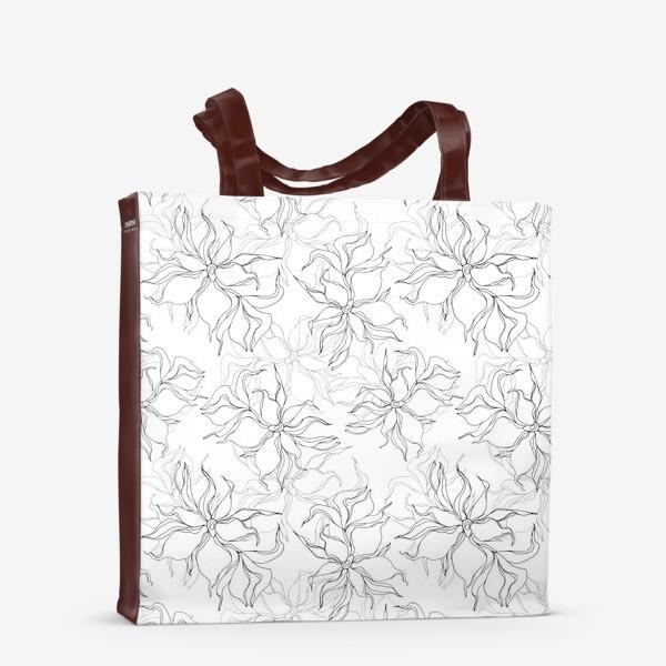 Сумка-шоппер «Цветочный принт. Нежные лилии»