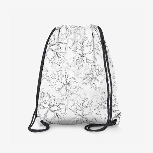 Рюкзак «Цветочный принт. Нежные лилии»