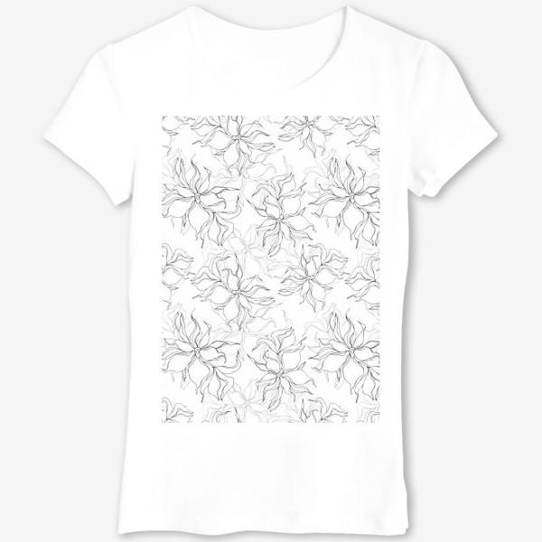 Футболка «Цветочный принт. Нежные лилии»