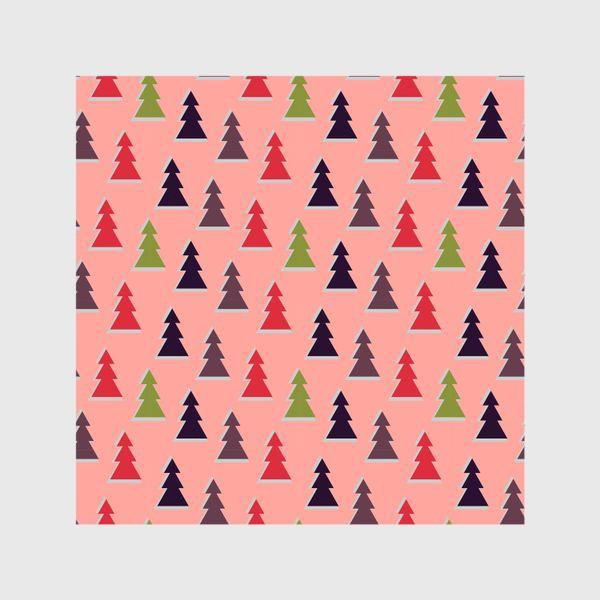 Шторы «Треугольные разноцветные новогодние елки»