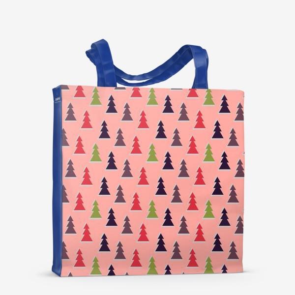 Сумка-шоппер «Треугольные разноцветные новогодние елки»