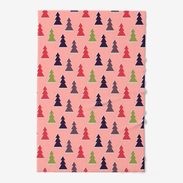 Полотенце «Треугольные разноцветные новогодние елки»