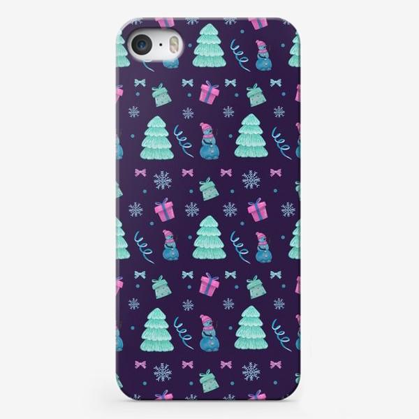 Чехол iPhone «Снеговички»