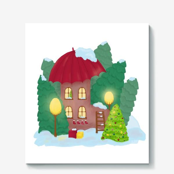 Холст «Сказочный домик»