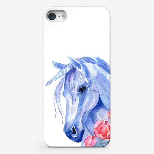 Чехол iPhone «голубой единорог»