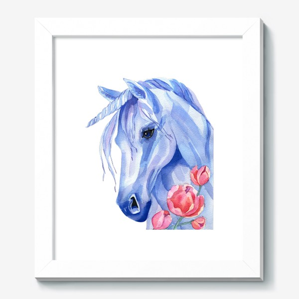 Картина «голубой единорог»