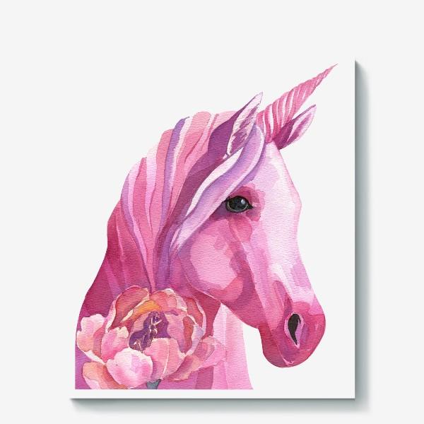 Холст «розовый единорог»