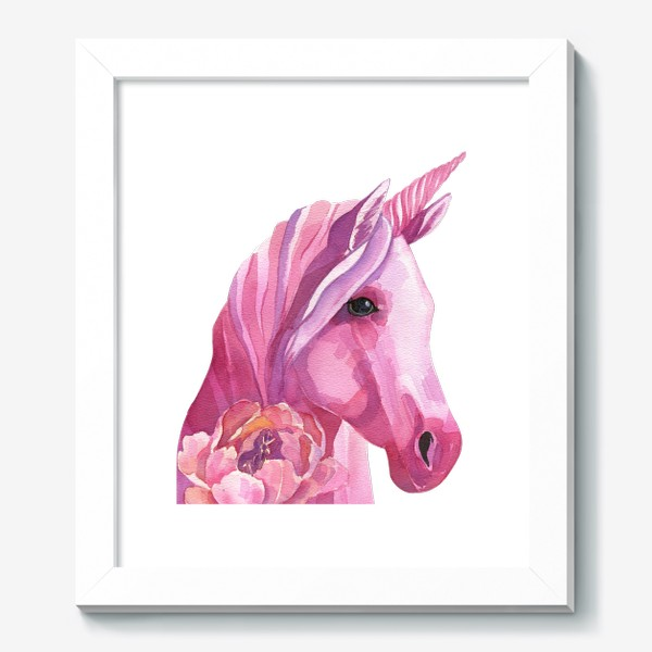 Картина «розовый единорог»