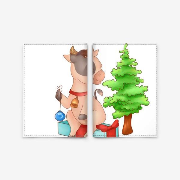 Обложка для паспорта «Милый бычок»
