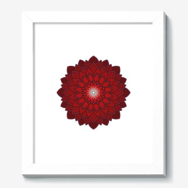 Картина «Мандала красная астра»