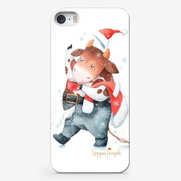 Чехол iPhone «открытка к году быка»