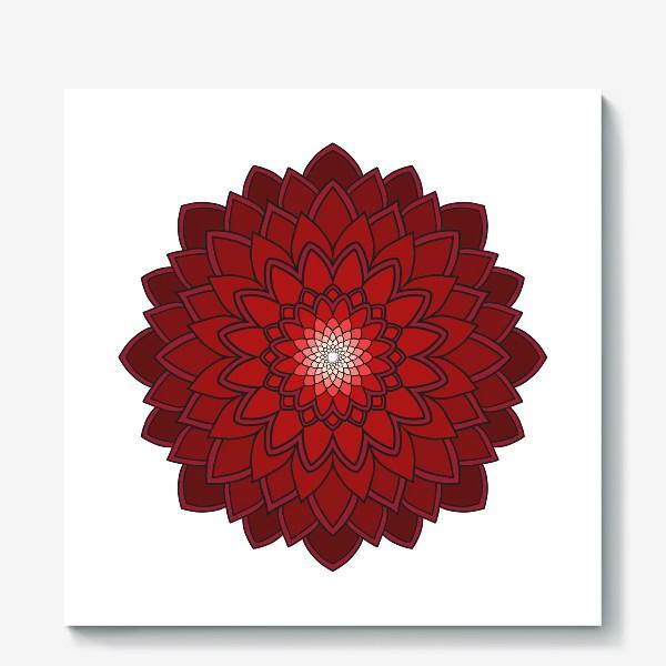 Холст «Мандала красная астра»